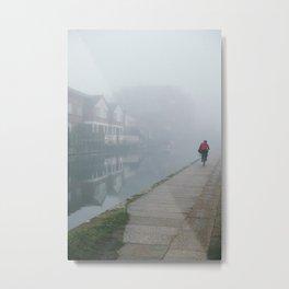 London Fog in Regents Canal by Diana Eastman Metal Print