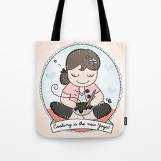 Cooking is the new Yoga Tote Bag