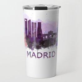 Madrid City Skyline HQ Travel Mug