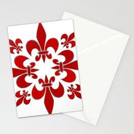Fleur de Lis pattern Stationery Cards