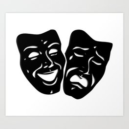 Theater Masks of Comedy and Tragedy Art Print