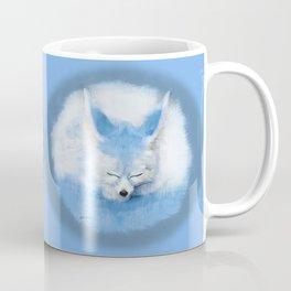 Sleeping Fennec Fox Blue Coffee Mug
