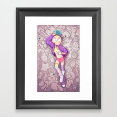 Kawaii Morty Framed Art Print