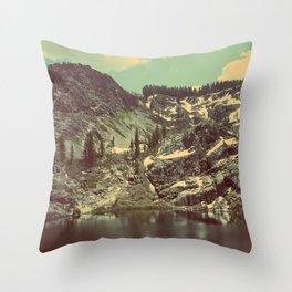 high sierras  Throw Pillow