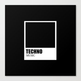 Techno music Canvas Print