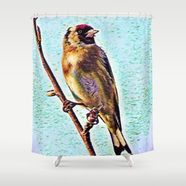 Goldfinch | Painting  Shower Curtain