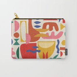 Mid Century Summer Abstraction Pattern Carry-All Pouch