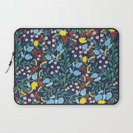 Floral Garden - Blue Laptop Sleeve