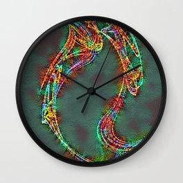 Nausea Blast Fractal Pattern Wall Clock