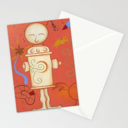 Lady Miro Hydrant Stationery Cards