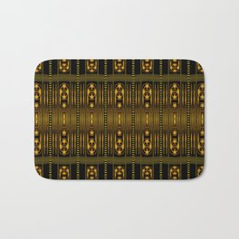Golden Clasp Pattern Bath Mat
