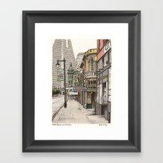 North Beach, SF Framed Art Print