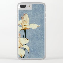 White Delphinium of Forgetfulness Clear iPhone Case