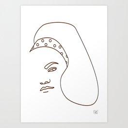 Eartha Kitt - White Art Print