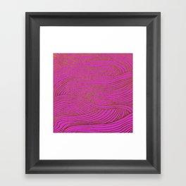 Wind Hot Pink Gold Framed Art Print