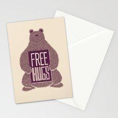 Free Hugs Bear Stationery Cards