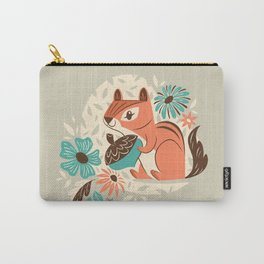 Chipmunk & Flowers Carry-All Pouch