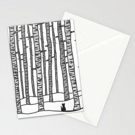 Cat Waits Stationery Cards