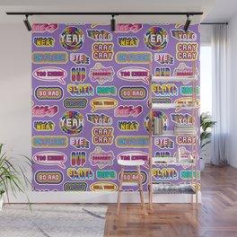 "Pattern #2 ""YOLO"", ""Slay!"", ""Hell Yeah"", ""Yas Kween"", etc. Wall Mural"