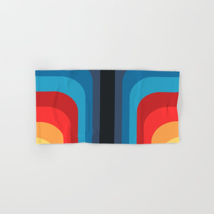 Retro Rainbow 01 Hand & Bath Towel