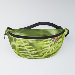 The red butterfly and the forest Fanny Pack