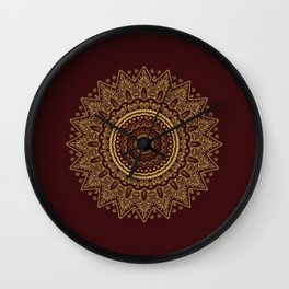 Royal Red and Gold Lace Wall Clock