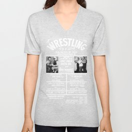 #11-B Memphis Wrestling Window Card Unisex V-Neck