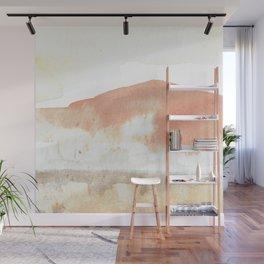 Terra Cotta Hills Abstract Desert Mountain Landsape with Watercolor Wall Mural