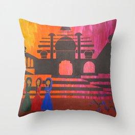 Indian Sunset Throw Pillow