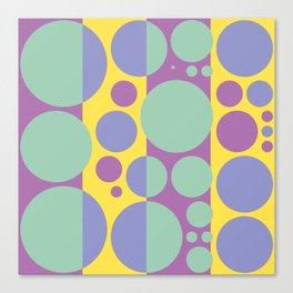 Summer spring fashion colors circles design 2.0 Canvas Print