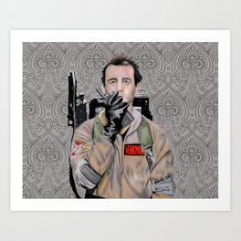 Bill Murray in Ghostbusters Art Print