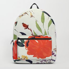floral pattern hand draw watercolor Backpack