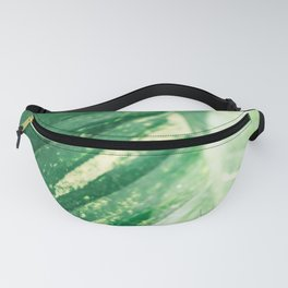 The green leaf | Botanical fine art photography print | Colorful pastel tones photo print Fanny Pack