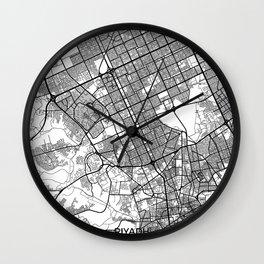 Riyadh Map Gray Wall Clock