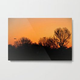 Sunrise Approach Metal Print