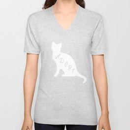 Cat Adopt a Cat Love Cats Cat Rescue Gift   Copy Unisex V-Neck