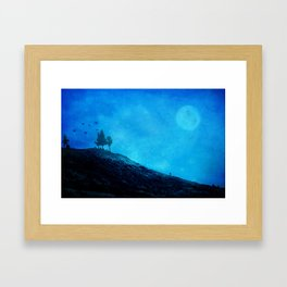 Thoughts at night Framed Art Print