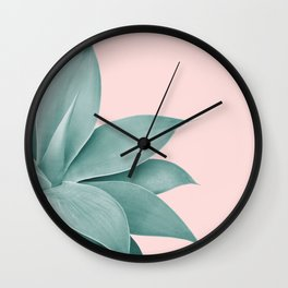 Agave Finesse #3 #tropical #decor #art #society6 Wall Clock