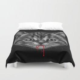 Black Pussy Cat Duvet Cover