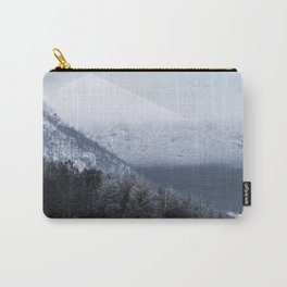 Winter Geometric Landscape Carry-All Pouch