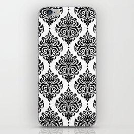Black and White Damask iPhone Skin