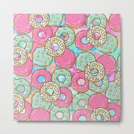 Sweet Donuts Cookies Metal Print