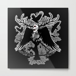 Nightmare Skull and Crows Metal Print