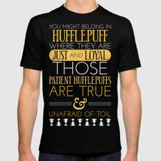 Hufflepuff Black MEDIUM Mens Fitted Tee