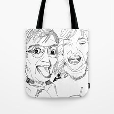 Yearbook Faces Tote Bag