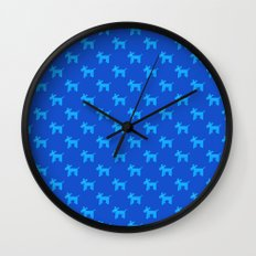 Dogs-Blue Wall Clock