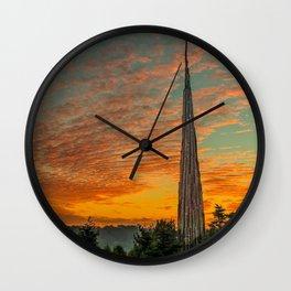 Nature Sculpture & Sunset Wall Clock
