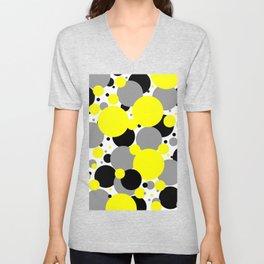 Yellow Polka Dots Unisex V-Neck