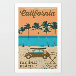 Laguna Beach California. Art Print