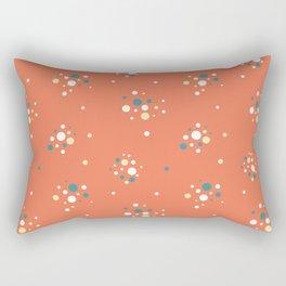 Antique glass bulbs dots orange Rectangular Pillow